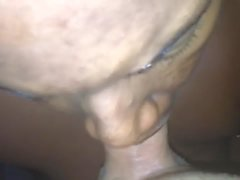 Black Bitch Swallows White Boy Cum