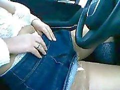 Saksalainen vaimo Vilkkuva tissit Car