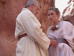 Outdoor anal with shaved Jennifer White in Star Wars XXX parody