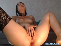Incredible brunette make me cum