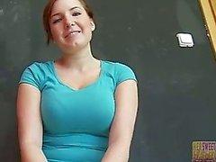 Söpö Tšekin tyttö Star - ensimmäinen aika perseestä kamera