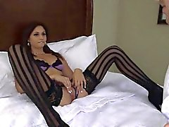 Gorgeous Ariana Marie in her stockings