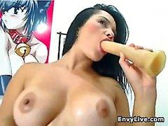 Blond Beauty Masturbate et Blowjob