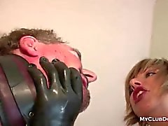Зрелая Femdom Обожает Хлопая к рабу
