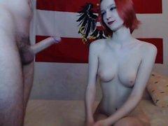 lanet büyük göğüsler ile olgun bebek Redhead
