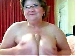 Busty BBW Granny On Cam BVR