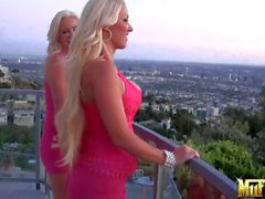 Blonde sin pink Molly Cavalli and Spencer Scott