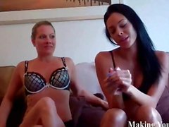 Jerking off instructions with hot babes