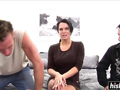 Cock sucking e pussy sbattere 3some