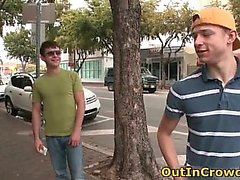 Gay Twink Sucks on the Street part2