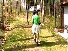 Alte schwangere Paare seduce jugendlich im Wälder
