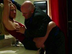 MILF Jessica Drake deep throat fucked