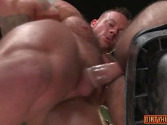 Muscle bear anal with facial