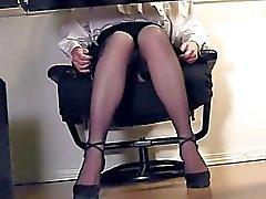 Compilação das de secretário os pés e da masturbação