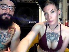 BIG Boobs Nice Ass Finger on Webcam