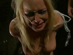 Blonde gets punished and fucked