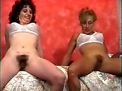 Retro hairy pussy women sex toy