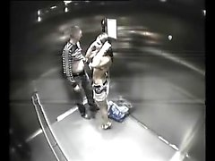 Resort spycam in Aufzug kaputt und fängt Paar Ficken