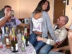 Esposa com amigos