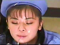 Amador namorada asiático bateu e Ejaculação facial