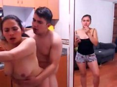 Il trio latina FFM amatoriale recita in webcam