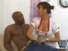 Horn Krankenschwester befindet schwarzen Fleisch !!!!