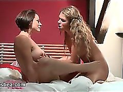 nasty lesbian girls having fun on bed part1