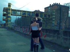 CHICAS LOCA - Wild ulkona julkinen seksi Espanjan hottie Mey Madness kanssa