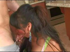 Sexy shemale Yasmine Lee anal slammed