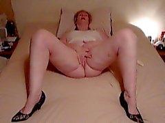 amadurecido de Karen a esfregar a orgasmo
