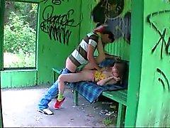 Нашей первой траву секс на автобусной станции