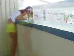 Любительские подросток Парой балконом Секс