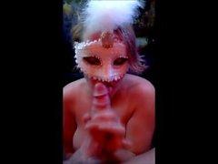 In maschera Mature di salto della cazzo del marito .