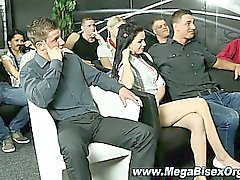 Bi classroom orgy teaches kissing
