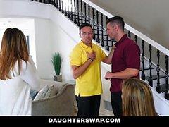 DaughterSwap - Pasaklı Kızları Baba Cock Tahliye