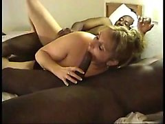 Interracial amateur groupsex with blonde motel slut
