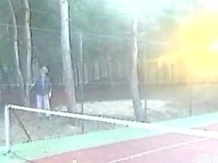 A hot Fisting at the Tennis Court