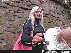 PublicAgent - Blond baisé dans les toilettes publiques