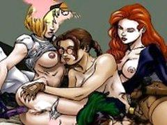 Orgia desenhos animados famosos