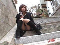 Ai Haneda Naughty Asian teini on julkinen