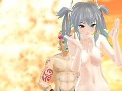 MMD R-18 Canon e Jake nude Sex Dance