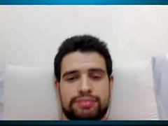 Rak på sin webcam