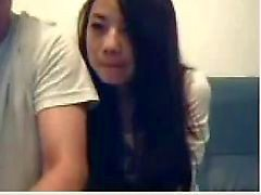 Chinese Paar Mess Around On Webcam