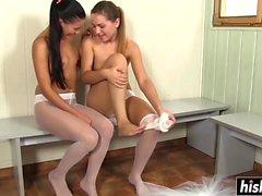 Astonishing ballerinas pleasure each other's cunts