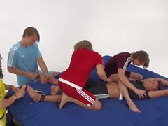 Spanish Guy Lead-Tickled by Hot Blonde Swede and Others - Vincentiu Vlad