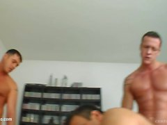 Aletta Ocean in group bukkake blowbang action from Cum For