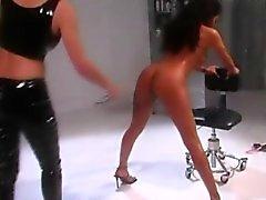 fetish lesbians spanking time