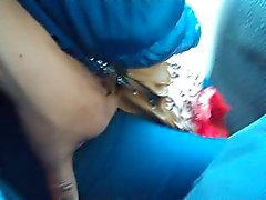 touch pussy wife in the bus 1
