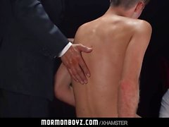 Mormonboyz - Young boys ass dominated by beefy dad