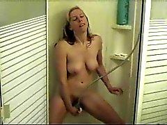 Секси белого жена в У душа